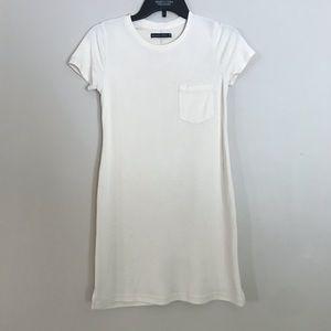 cream pocket t-shirt dress